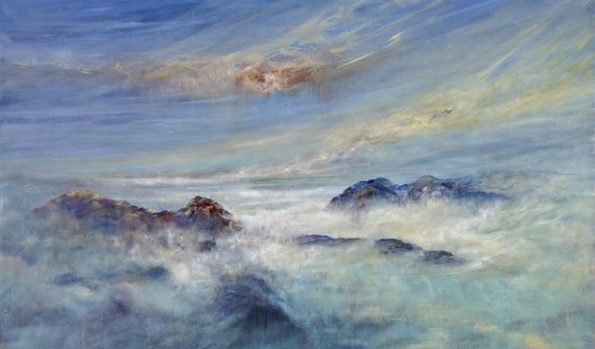 Diana Mackie Painting Above the Clouds