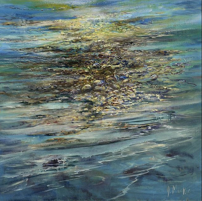 Diana Mackie Painting Bladder Rack Seaweed Sunshine