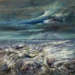 Diana Mackie Painting Burn Passage Through the Sea