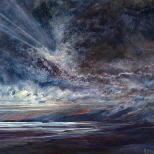 Diana Mackie Painting Dark Shoreline