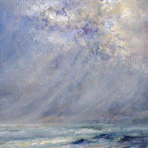 Diana Mackie Painting Hebridean Beach