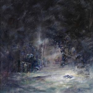 Diana Mackie Painting Inside the Cave