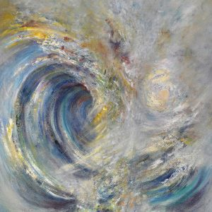 Diana Mackie Painting Inside the Wave