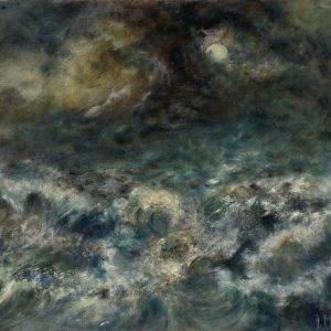 Diana Mackie Painting Moonlight