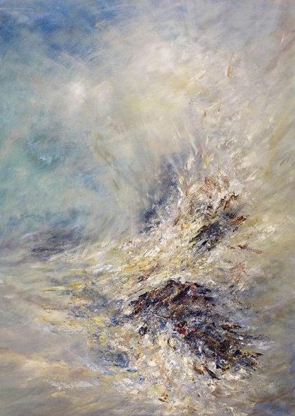 Diana Mackie Painting Waves & Rocks
