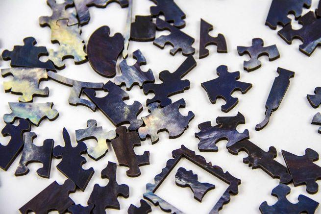 Diana Mackie Painting Jigsaw Pieces