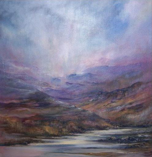 Diana Mackie Painting Autumn Hillside