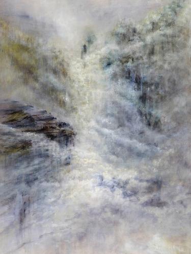 Diana Mackie Painting Cloud Falls