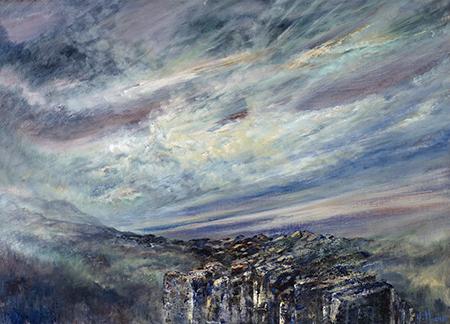 Diana Mackie Painting Creag Meagaidh