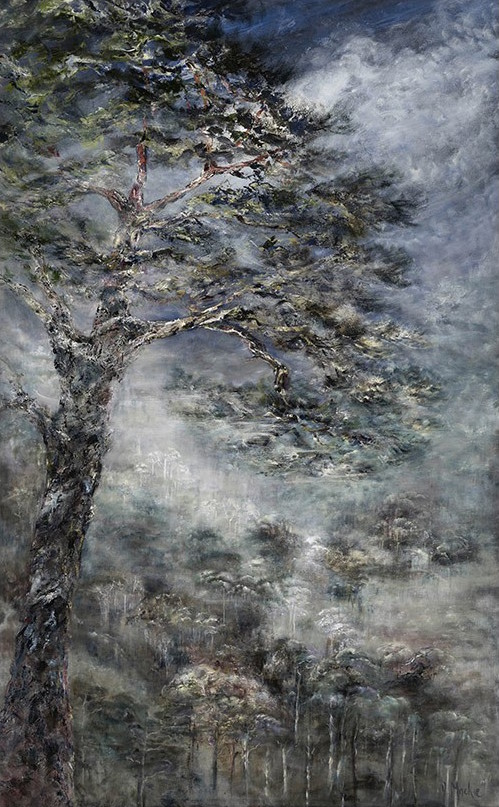 Diana Mackie Painting Frosted Pines