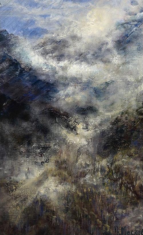 Diana Mackie Painting Hillside