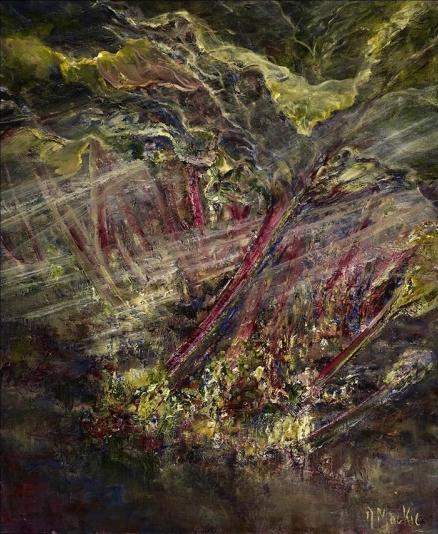 Diana Mackie Painting Rhubarb 2