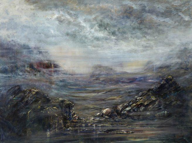 Diana Mackie Painting Rock Pool