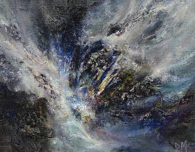 Diana Mackie Painting Rocks and Waves