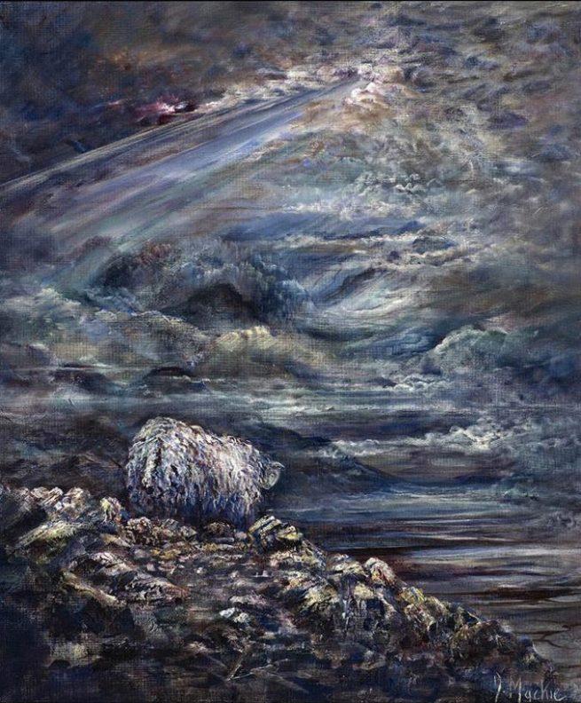 Diana Mackie Painting Sheeps View