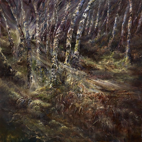 Diana Mackie Painting Woodlands Early Spring