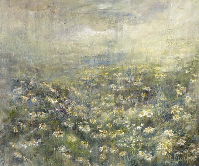 Diana Mackie Painting Early Morning Daisies