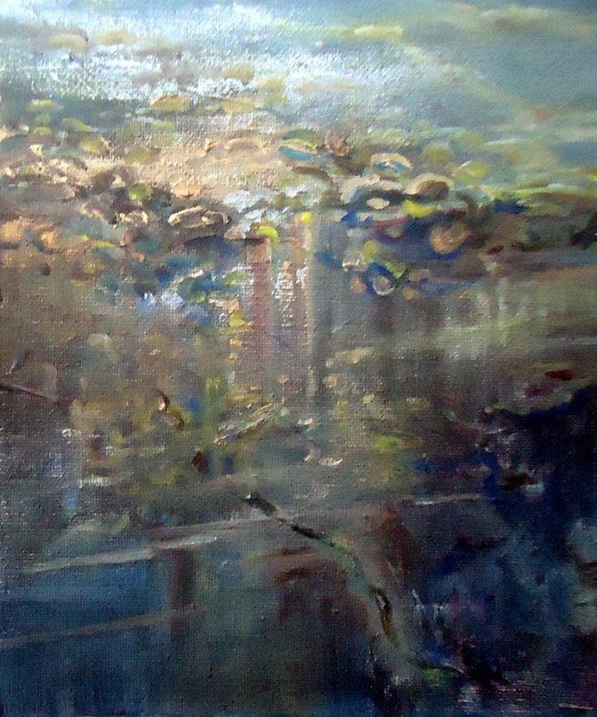 Diana Mackie Painting Seaweed 2
