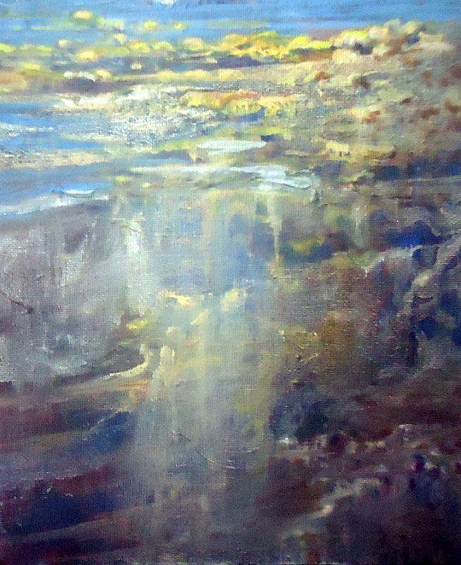 Diana Mackie Painting Seaweed 3
