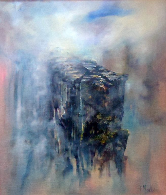 Diana Mackie Painting The Stack