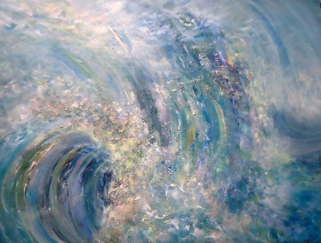 Diana Mackie Painting Turn of the Wave