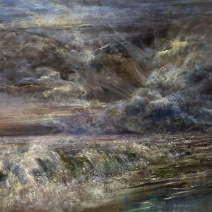 Diana Mackie Painting Beach, Waves and Clouds
