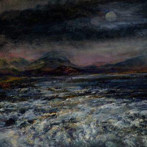 Diana Mackie Painting Moonlight 2