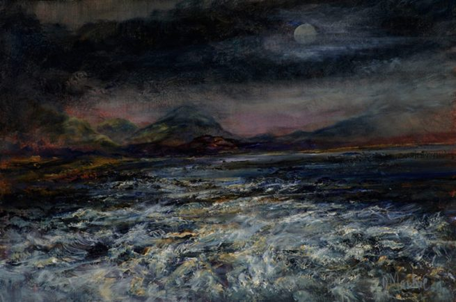 Diana Mackie Painting Moonlight 2
