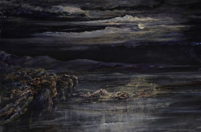 Diana Mackie Painting Moonlight 3