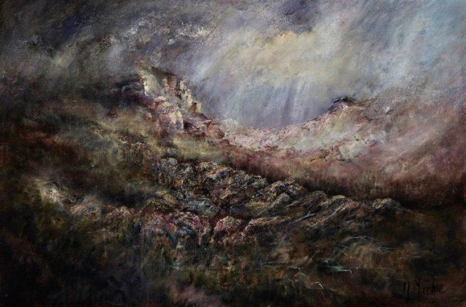 Diana Mackie Painting Darks and Lights
