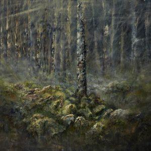 Diana Mackie Painting Mossed Boulders