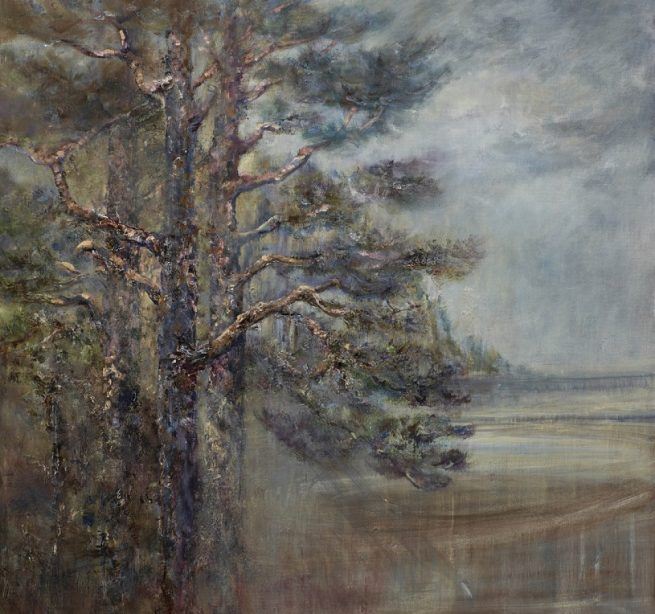 Diana Mackie Painting Pines Early Morning