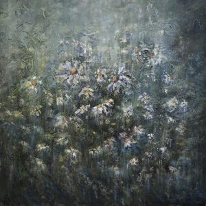 Diana Mackie Painting Daisies a Closer Look