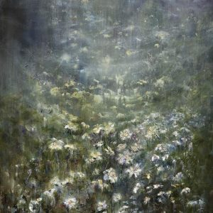 Diana Mackie Painting Early Morning Daisy Field