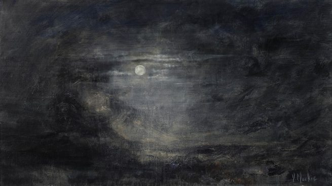 Diana Mackie Painting Moonlight and Moors