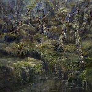 Diana Mackie Painting Carbost Wood