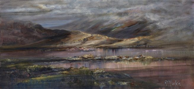 Diana Mackie Painting Autumn Colours