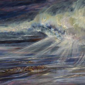 Diana Mackie Painting Clouds, Rain and Sunshine