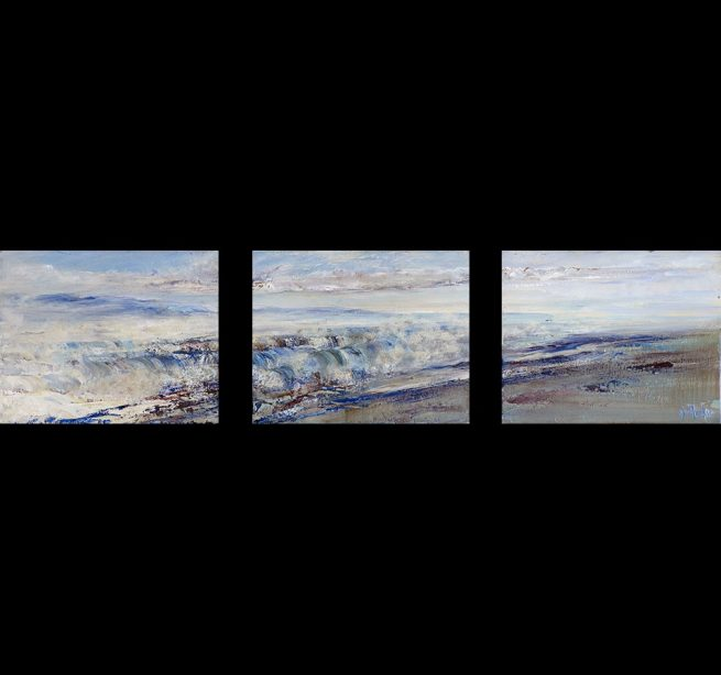 Diana Mackie Paintings Spring Tide Triptych