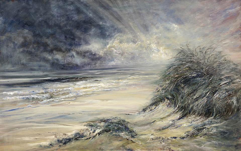 Diana Mackie Paining Beach at Forvie