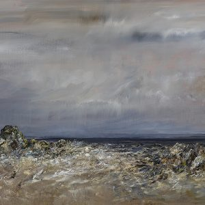 Diana Mackie Painting Burn Meets the Sea