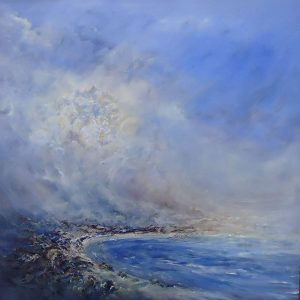 Diana Mackie Painting Weather Front Coral Beach