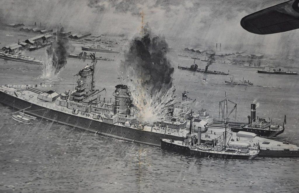 Battleship bombing