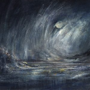 Diana Mackie Painting Full Moon and Heavy Rain