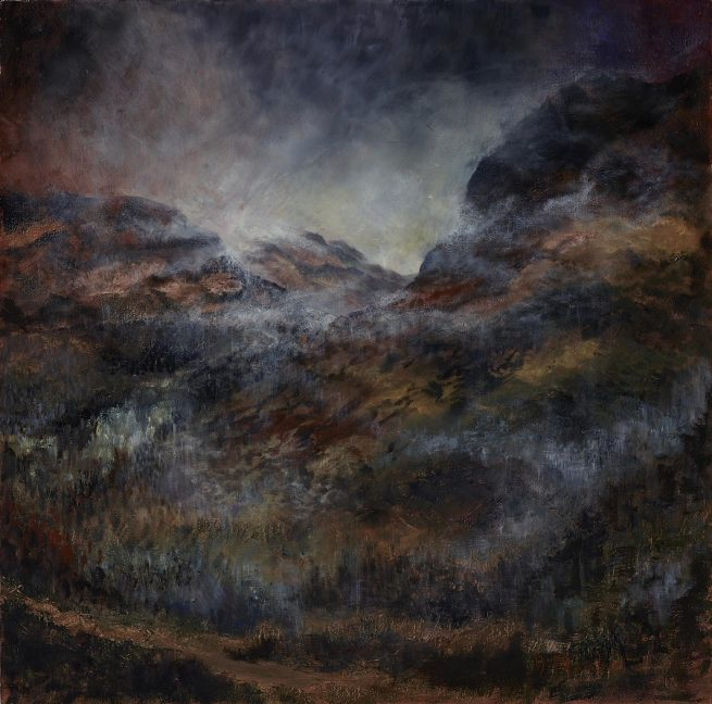 Diana Mackie Painting The Great Glen Coe