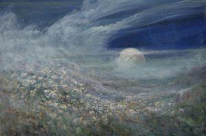 Diana Mackie Painting Moon Rising