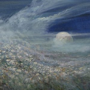 Diana Mackie Painting Moon Rising