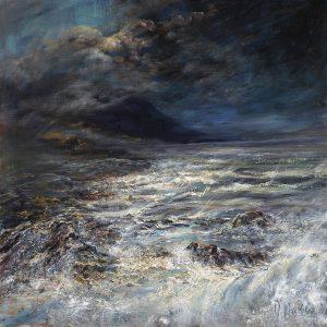 Diana Mackie Painting Stormy Coastline