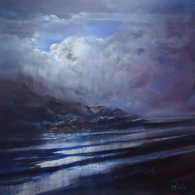 Diana Mackie Painting Moonlight Reflections