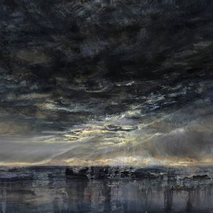 Diana Mackie Painting Sunlight Over the Outer Hebrides